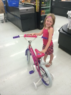 Eden with her new bike!